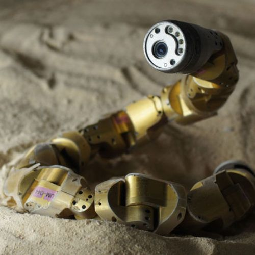 Sidewinding Snakebots Sinuously Summit Steep Sandy Slopes