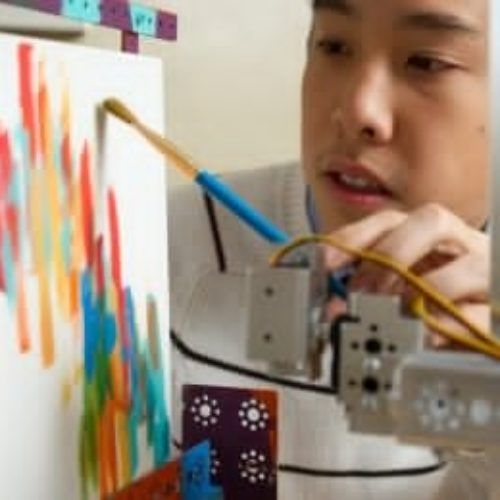 Eye stimulated robot can draw for you