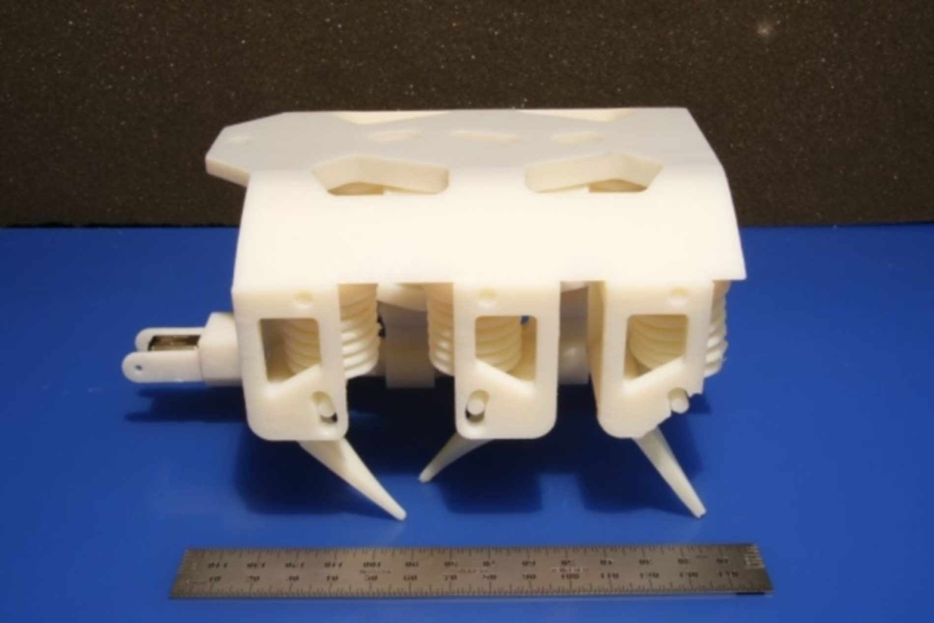 3D-printed robots walk out of the printer