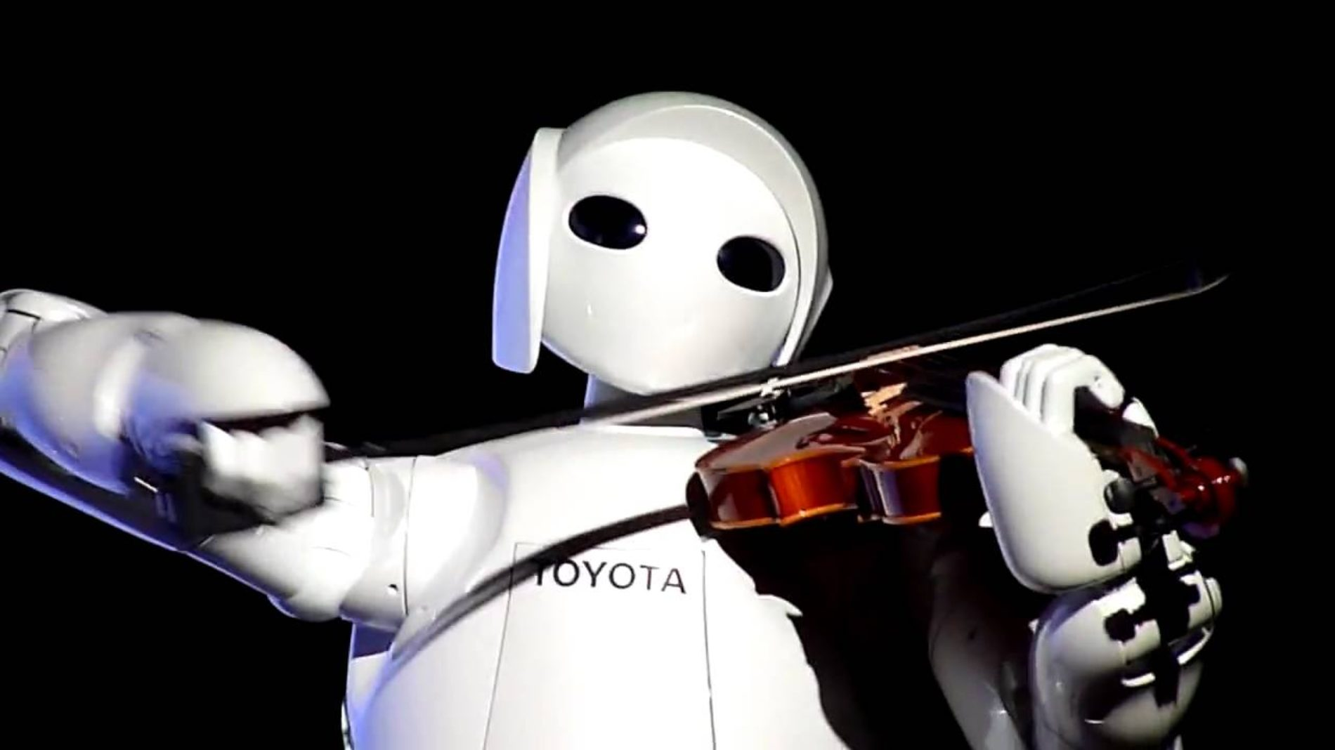 Violin-Playing Robot. Robot which can play the song on violin.